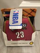 Nba Cleveland Cavaliers 23 Lebron James Compact Disc Wallet Holds 24cd/dvd. New