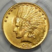 1926 Pcgs Ms65 10 Indian Head Gold