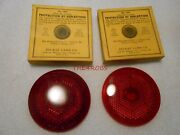 Two Original Do Ray 1934 Dodge Plymouth Chrysler Tail Light Lens In Boxes 1297