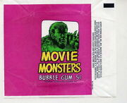 Terror Tales Aka Movie Monsters Trading Card .5c Wrapper Clean Sharp