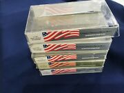1980's Engelhard Lot Of 5 Plastic Flag Wrappers For 9th Series 100 Oz Bar E8214