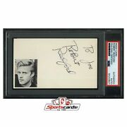 Robert Redford Signed 3x5 Index Card Psa/dna Actor The Natural - Rare 1959 Auto