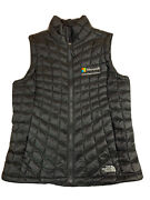 Thermoball Vest Womens Size Medium Black Quilted Down Microsoft Logo