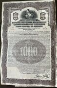 German-american Gold 1000 Bond Central Bank For Agriculture 1927 With Coupons