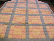 Vintage 1930and039s Autograph Childand039s Quilt Novelty Juvenile Cotton Fabric 38 X 46 In