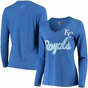 Kansas City Royals G-iii 4her By Carl Banks Womenand039s Perfect Game Long Sleeve