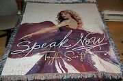 Vintage 2010 Taylor Swift Speak Now Tour Woven Throw Blanket Tapestry Afghan