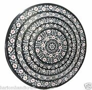 3and039x3and039 Marble Dining Table Top Rare Inlay Pietradure Mosaic Home Decor H976a