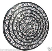 Size 3and039x3and039 Marble Dining Table Top Rare Inlay Pietradure Mosaic Home Decor H976a