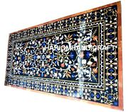 Marble Dining Table Top Mosaic Inlay Art Pietradure Fine Collectible Decor H2036