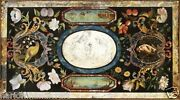4and039x2and039 Marble Dining Table Top Real Pietradure Inlay Mosaic Work Home Decor H1525
