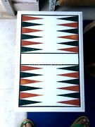 Backgammon Coffee Side Table Top Play Game Art Inlay Restaurant Decorative H4373