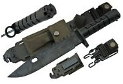 13 Bayonet Survival M Camo Knife + Scabbard Saw Back Ar Wire Cutter 9 14 15 16
