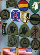 Asst. U.s. Army Unit Insignia Military Patches Lot 39 Pcs.