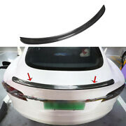 For Tesla Model S 12-2021 Real Carbon Fiber P Style Rear Trunk Spoiler Wing Flap