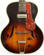 Vintage Silvertone H53 Archtop Acoustic Electric Guitar W/ Case Rare Early And03950s