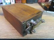 Antique Ford Model T A Ignition Buzz Coil Box Ford Script Untested Rat Rod