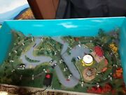 Custom N Scale Layout 4'x2' Country Side And Carnival Scene Figure 8