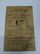 Vintage 1897 Ride Flyer - Annual Git Out Lake Erie Commanders Group Ride