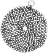 Kitchensera Cast Iron Cleaner Pack Of 1- Stainless Steel 7 Inches Chainmail Scru