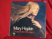 Mary Hopkin Those Were The Days Apple Sw3395 Lp Record Sealed Rare 1968 Beatles