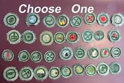 Girl Scout First Round Badges Gray Green Fabric 1933 88 Years Old 42-choose One