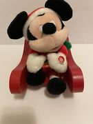 Disney Mickey Mouse Animated Christmas Sleigh Pals Lights Musical Singing Doll