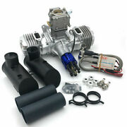 Dle 130cc Twin Cylinder Gasoline Engine 8500rpm Fit For Rc Airplane Model