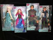 Frozen Dolls Rare Lot Of 4 First Edition Sold By Disney Store Boxes Near Mint