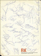 John F. Kennedy Jr. - Program Signed Circa 1974 With Co-signers