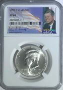 1998 S Ngc Sp69 Silver Kennedy Matte Proof Finish Half Dollar Jfk Coin Sign 50c