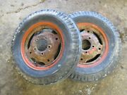 Economy Power King 1612 1616 1614 Tractor Firestone 4.00-12 Front Tires And Rims