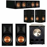 Klipsch 5.1 Piano Black System With 2 Rp-600m 1 Rp-504c 2 Rp-502s 1 Pl-300