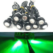 10x 9w 12v Led Underwater Marine Light Green For Boat Fishing With Waterproof