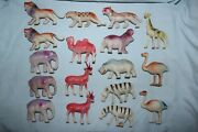 17 Vintage Celluloid Toy Zoo Animals - 12 Occupied Japan And 5 Made In Japan