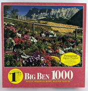 Big Ben 1000 Piece Puzzle Holy Cross Mtn Flower Garden, Italy 1999 New In Box