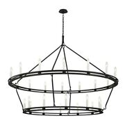 Troy Lighting Sutton 28 Light 2-tier Chandelier Textured Black - F6235-tb