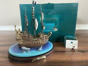 Wdcc Peter Pan - The Jolly Roger Enchanted Places Big Figurine W/ Captain Hook