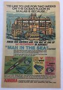 1970 Aurora Model Kit Ad Page Sealab Iii Man In The Sea Contest