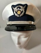 United States Coast Guard Auxiliary Male Officer Combination Cap Vintage 7 1/4