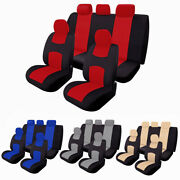 9 Parts Universal Full Set Auto Seat Covers For Car Trucks Suv Protectors