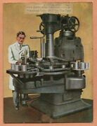 Modern Machine For Producing Cans Used For Canning Food 1930s Ad Trade Card