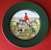 New Fox Hunt Hunting Fitz And Floyd Tally Ho Plate 1 - Fine Porcelain