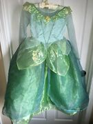 Gorgeous Disney Store Exclusive Tinkerbell Fairy Dress Up Costume Nwt Girls 6-12