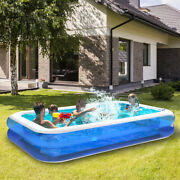 10 Ft X 20 Prompt Set Inflatable Swimming Pool Outdoor Backyard Family Swimming