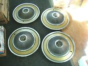 4 Vintage Rare 15 Wheel Covers Ford Thunderbird Turbine 1960and039s 1970and039s Hubcaps