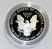 2002-p American Silver Eagle-proof-1oz. Silver Bullion Coin With Velvet Box