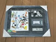 Mel Blanc Signed Looney Tunes Framed Display Cut Autograph Beckett Certified