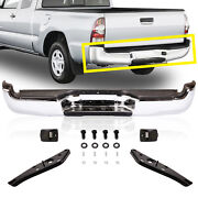 Rear Steel Chrome Step Bumper Assembly Fit 2005-2014 Toyota Tacoma To1103113