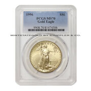 Ultra Rare 1996 50 Eagle Pcgs Ms70 Graded American Gold Coin Only 25 Exist